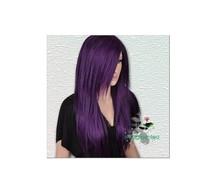 Purple Long Straight Wig Animation Lolita