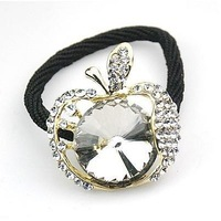1pcs Free shipping beautiful shiny crystal apple hair accessories hair band hair clip for women
