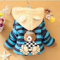 Retail 1Pc New 2014 Children Outerwear Spring Autumn Winter Jacket For Girl Boy Baby Warm Cartoon Coat CCC211