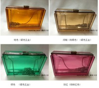 Free sShipping 2013 New Clutch Transparent Transparent Transparent Acrylic Bags Clutch Bags Ladies Handbags Hardbags