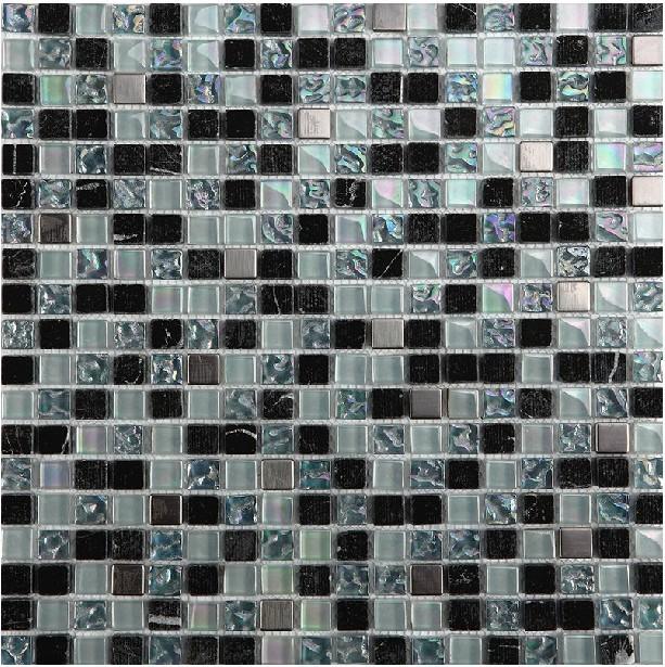 iridescent glass mosaic tile backsplash discount bathroom wall tile