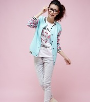 708 # 2013 Spring new Korean baseball uniform class service sweater embroidered long-sleeved jacket printing tide