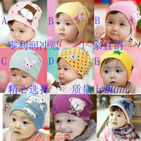 Photography Gorro Accessories Bonnet Baby Girl Child Cartoon Thermal 100% Full Cotton Autumn And Winter Bear Rabbit Pocket Hat