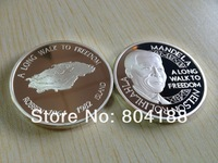 A Long Walk to Freedom Year 1964~1982 Mandela Robben island 50pcs/lot Free Shipping Pure Silver Clad South Africa Silver Coins