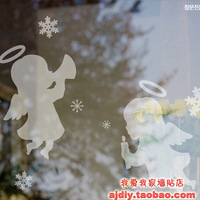 New arrival g 2013 Christmas glass stickers 20 wall stickers