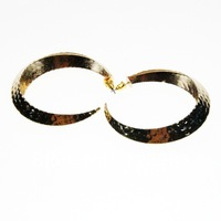 Hot sale 2013 Charming Individual Alloy Snake Skin circle Stud Earring Free shipping