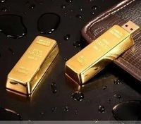 UP046 Gold Bars USB Flash Drive 1GB 2GB 4GB 8GB 16GB 32GB 64GB Free Shipping