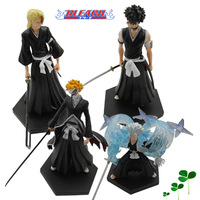 Free Shipping High Quality Japanese Anime Anime Bleach Ichigo Hitsugaya Toshiro PVC Figure Set of 4PCS nice Gift