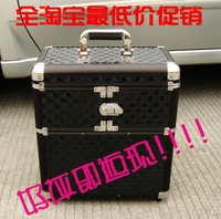 Professional cosmetics portable trolley cosmetic box