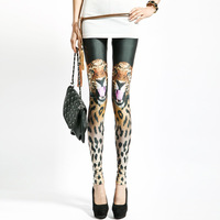 New arrival 2013 fashion tiger personality slim thin elastic legging women's