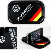 Car Anti Slip Mat Non Slip Mat Silica Gel Skid proof VW Volkswagen Bora CC Polo Golf Jetta Sagitar Phone key Glasses GPS Holder