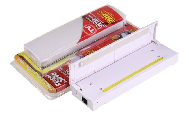 Free Shipping 40pcs/lot Reseal Save Bag Sealer Food Saver As Seen On TV Portable Vacuum Sealer Clamshell Packaging(China (Mainland))