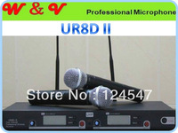 Fast shipping UR8D Wireless microphone handheld UHF/PLL Wireless microfone Dual Channel microfono Mikrofon UR8D-II