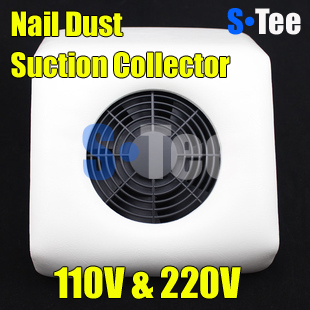 Free shipping 110 & 220V White Nail Art Dust Suction Collector Manicure Filing Acrylic UV Gel Tip Machine