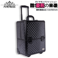 2013 specialized in exporting black trolley makeup case, beauty salons nail box storage box large make-up box