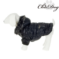 Pet clothes winter and autumn teddy dog cotton down jacket dog hoody clothes