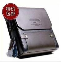 POLO men leather messenger bag casual shoulder bag, men's business bag free shipping