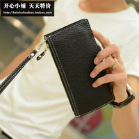 Accidnetal the trend of male wallet coin purse long design wallet men's card case