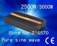 Best quality!!2500w/5000w DC24V to AC220V Pure sine wave inverter&converter