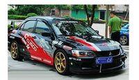 Mitsubishi car stickers lancer garland lancer car sticker v3
