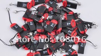 high quality,hot sell,100pcs/lot ,whistle USB 2.0 T-flash memory card reader/ TFcard /micro SD card reader,adapter