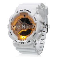Unisex Sporty Multifunctional Ana-Digi Silicone Band Wrist Watch with Night Light watch wrist Outdoor watch, free shipping