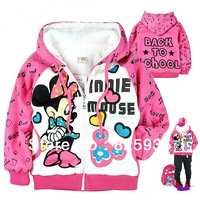 2013 New Children's Clothing Children Cute Girls Jacket Coat Warm Coat Free Shipping