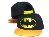 2013 new kids batman fashion adjustable baseball snapback hats for children sports hip pop cap boys summer sun hat wholesale