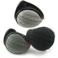 Male women's yarn thermal ear muffs foldaway ear package earmuffs