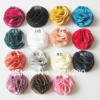 "EMS Free Double layer Chiffon Gauze flower 2"" Dainty Polyester Fabric Flowers  Children Hair Accessories DIY Headbands Hairpins"