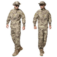 Free Shipping New A-TACS Ment Combat Commando Suit Outdoor Camouflage Fatigues BDU CP Combat Set Army Military Airsoft Uniform