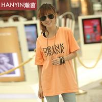 2013 summer new arrival T-shirt short-sleeve top spring clothes long design basic shirt t-shirt short-sleeve female