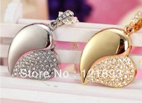 Drop shipping + Free shipping!!! Hotsale  4gb Heat Shape with Necklace novelty deisgn flash memory stick pen drive