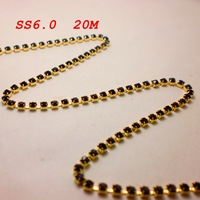SS6.0 20meters/lot Amethyst Color Rhinestone Cup Chain Chatons Strass Free Shipping