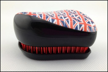 Styler Tangle Teezer Hair Styling Comb Instant Detangling Hairbrush  Britain Flag Free Shipping 1piece/lot