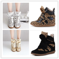 2013  NEW Isabel Marant Women's Velcro Strap High-TOP Sneakers Shoes Ladys Ankle Wedge Boots Sneakers  EU size 35-42  3315