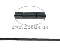 Free shipping!!!Non-Magnetic Hematite Beads,ethnic, Tube, black, A, 2x4mm, Hole:Approx 1mm, Length:15.5 Inch, 10Strands/Lot