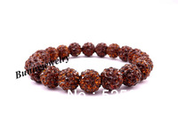 Coffee 10mm Rhinestone Disco Ball Beads Bracelet Birthday Gift Free shipping Min.order is $10