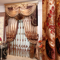 Fashion curtain vintage royal curtain embroidered curtain luxury quality