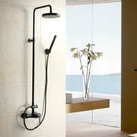 Faucet copper shower ms-c2312 black bronze color straight pipe shower set fashion