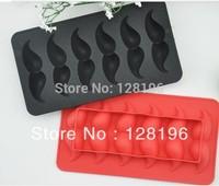 Free shipping ice cube tray mustache shape Ice lattice cheap fancy mustache ice box ice tray