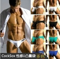 Cocksox male triangle panties lycra cotton panties 100% cotton panties male underwear for man free shipping