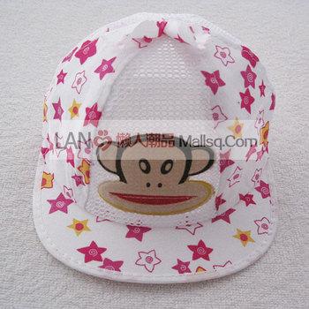 Child cartoon cap male child sun-shading mesh cap baseball cap baby spring and summer hat 259