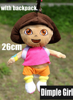 HOT FOR SALE small with backpack soft plush dora doll adventurous the Explorer toys for baby girl happy birthday gift novelty