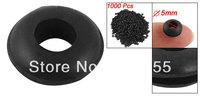 1000 Pcs Wire Protector Bushing Needle Armature Bar Black Rubber Grommets