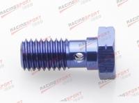 Banjo Bolt M10 x 1.0 Aluminium Banjo Bolt Brake caliper Adaptor AD63009 blue