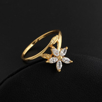 J1094 Wholesale 2013 New 18K Gold Plated Rings Inlay Zircon Crystal From Austria Fashion Jewelry Hot Selling