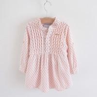 Spring and autumn thin corduroy soft female child 2013 autumn long-sleeve dress children's clothing