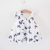 Butterfly flower female child 100% cotton cloth summer spaghetti strap one-piece dress tank dress 2013 summer children's
