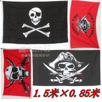 Free shipping 4 decoration supplies props skull pirates of the caribbean flags